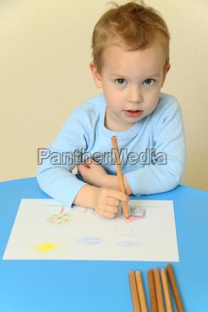 dipingere mano sviluppo giovani bambino asilo