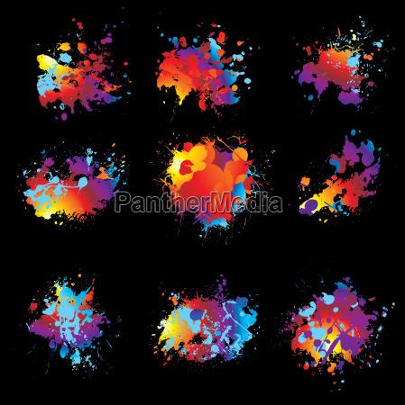 variation, ink, spray, nine - 1780347