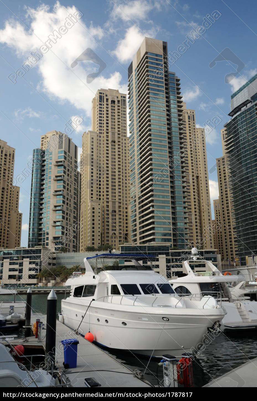 yacht, in, dubai, marina - 1787817