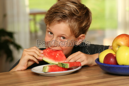 boy, with, melon - 1788375