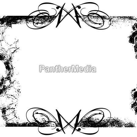 black grunge swirls frame