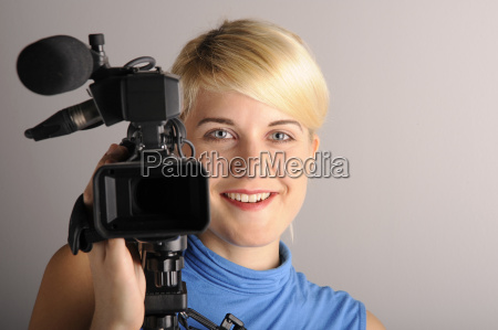 young, woman, video, camera - 1793499