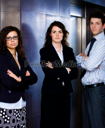 determined young business team