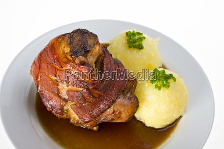 bavarian pork with potato dumplings