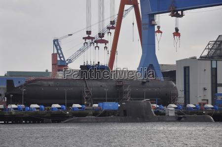 submarines at the shipyard