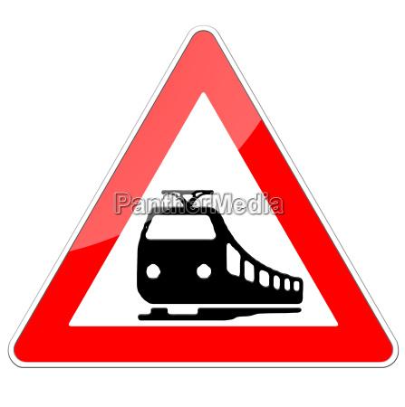 unbeschrankter railroad crossing