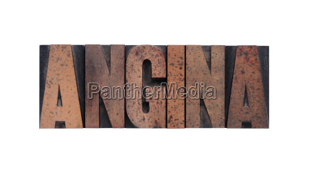 angina in old ink stained wood