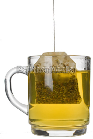 glass of herbal tea isolated on