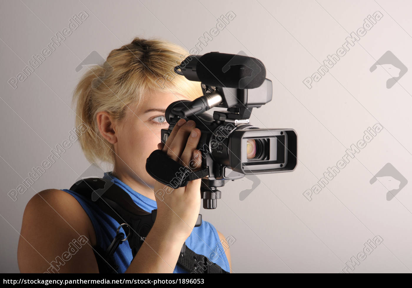 young, woman, video, camera - 1896053