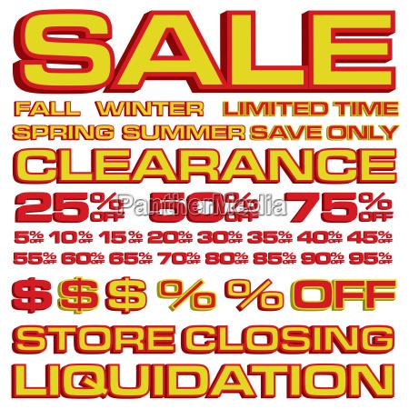 3d sale ad elements