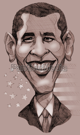obama caricatura
