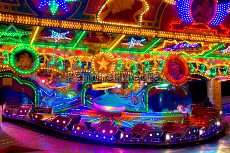 carousel with colorful light decorations