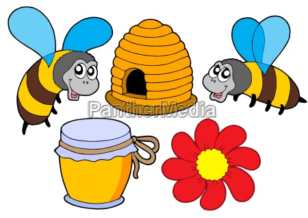 bee and honey collection