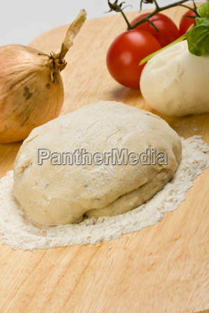 pastry cheese tomatoes and onions