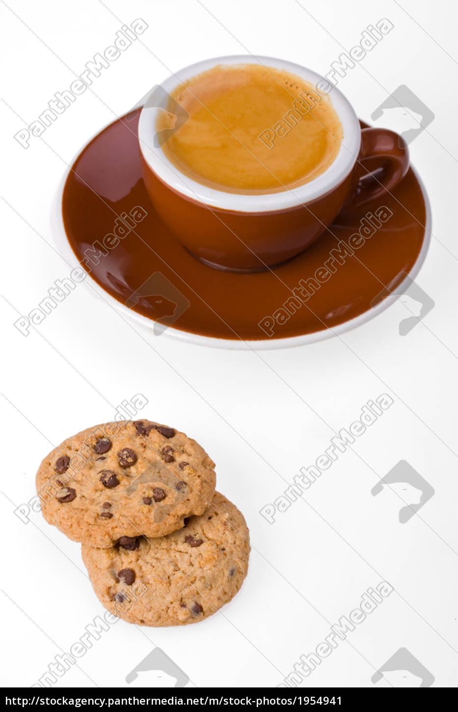 cup, of, espresso, and, cookies, isolated - 1954941
