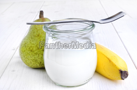 yogurt in glass
