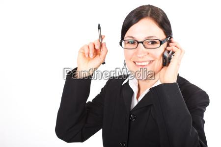 telefonierende businesswoman