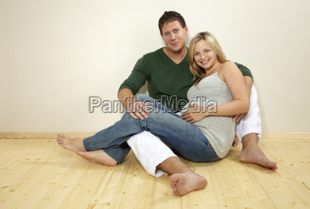pregnant woman with man