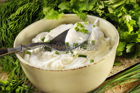 a bowl of cottage cheese with