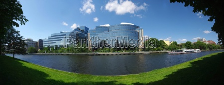 panorama office buildings moab ufer berlin