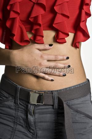 female belly