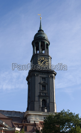 church clock hamburg steeple vane clock