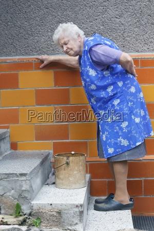 granny with lumbago