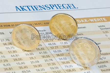 euro coins on rate table