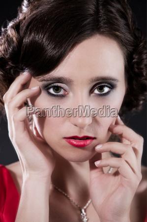 woman in a doll like portrait