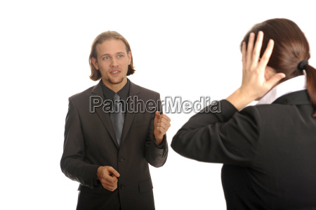woman conversation conflict business dealings deal