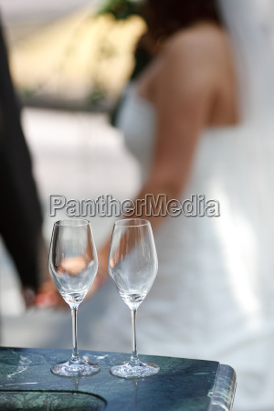 bride in background
