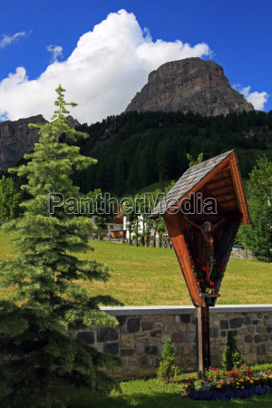 mountains dolomites alps south tyrol cross