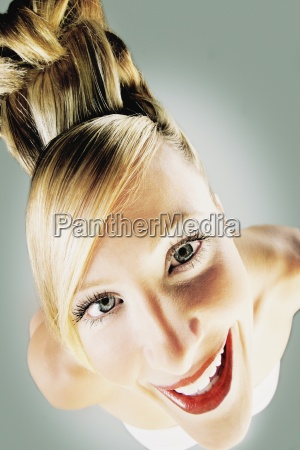 woman with bold hairstyle