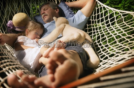 laying together in a hammock