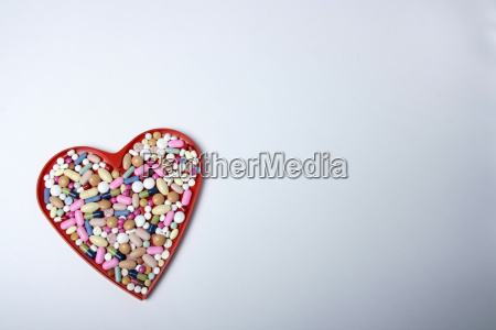 heart full of tablets across