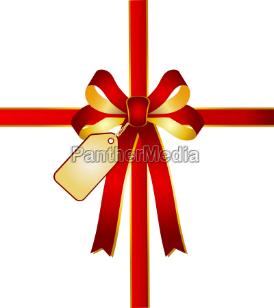 gift loop with gold greeting card