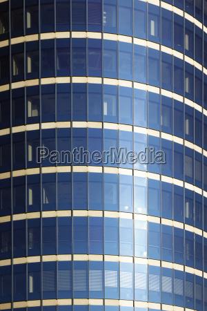 glass facade buelow tower