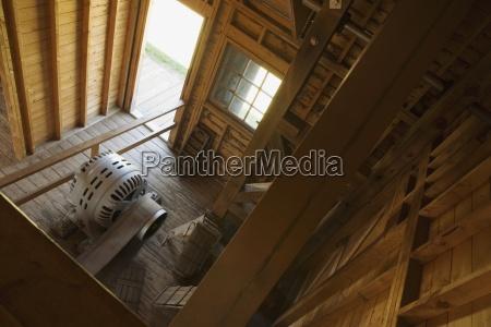 high angle view of a room
