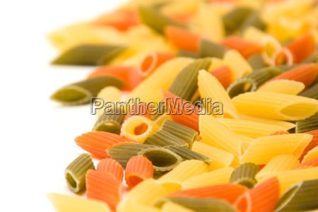 multicolour pasta