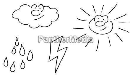 comic weather symbols