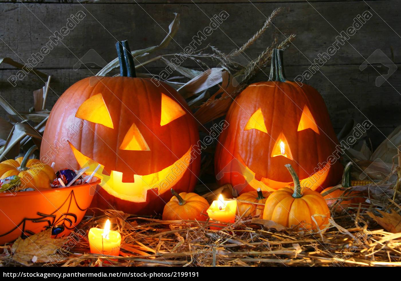scarved, jack-o-lanterns, - 2199191