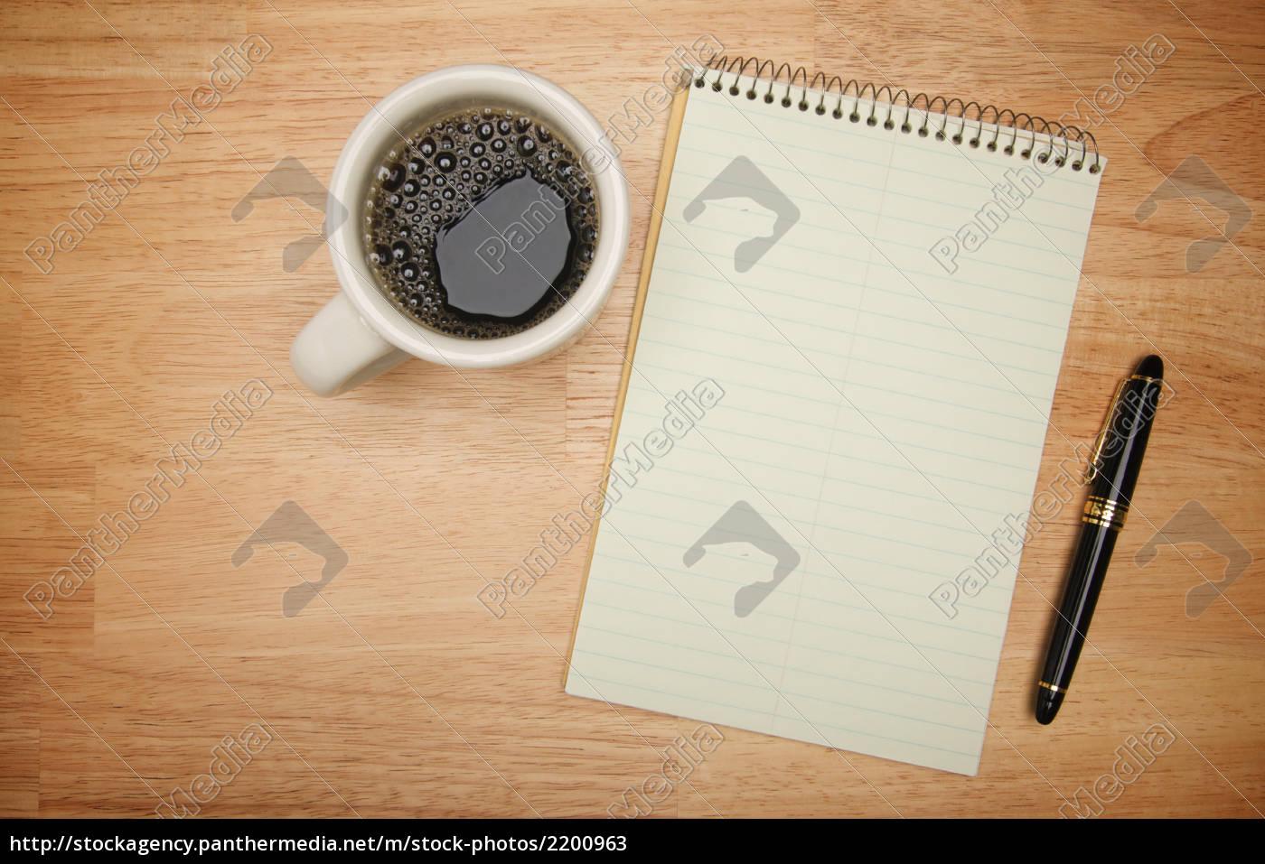 blank, pad, of, paper, , pen, & - 2200963