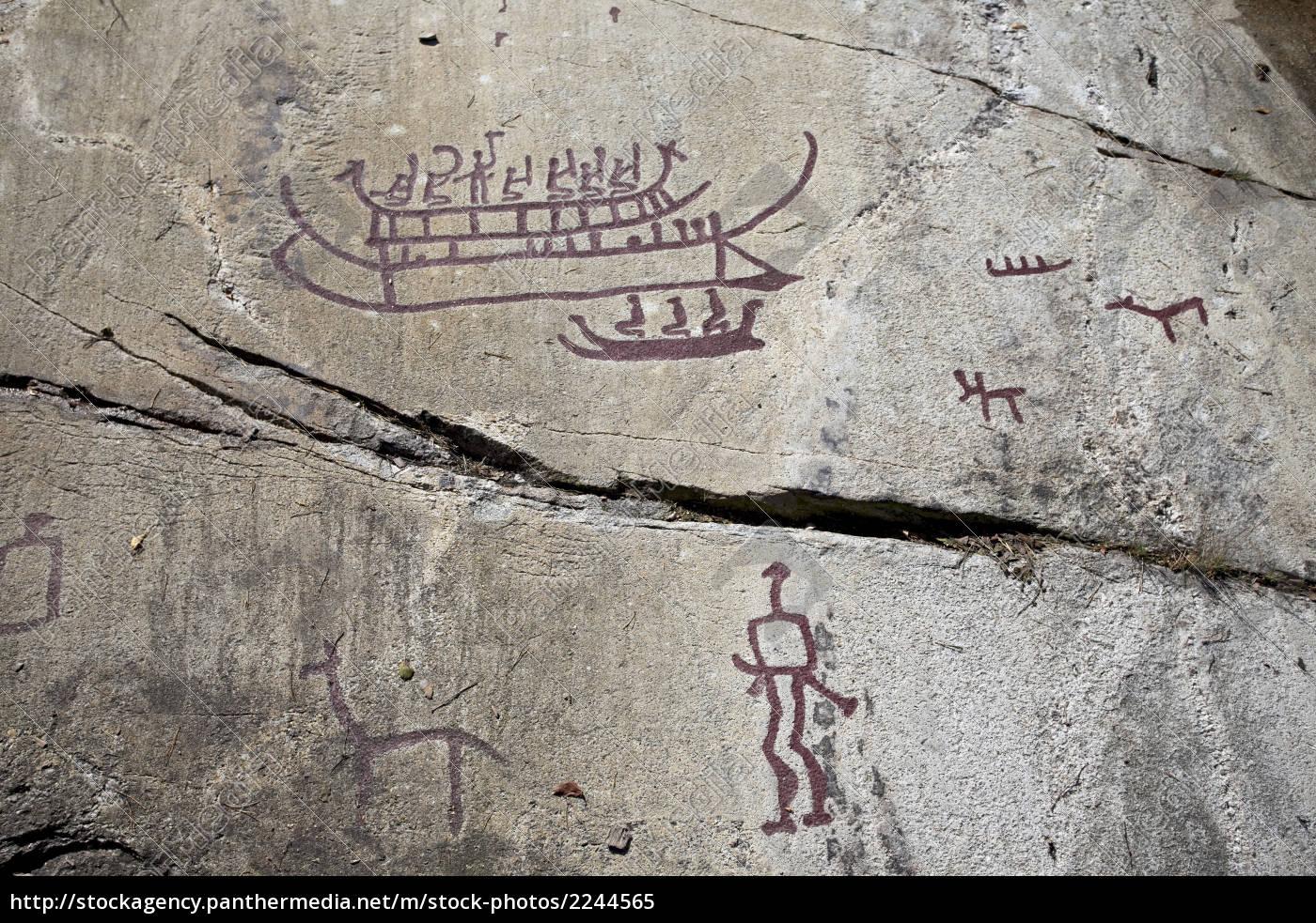 prehistoric, rock, drawings, in, tanum - 2244565