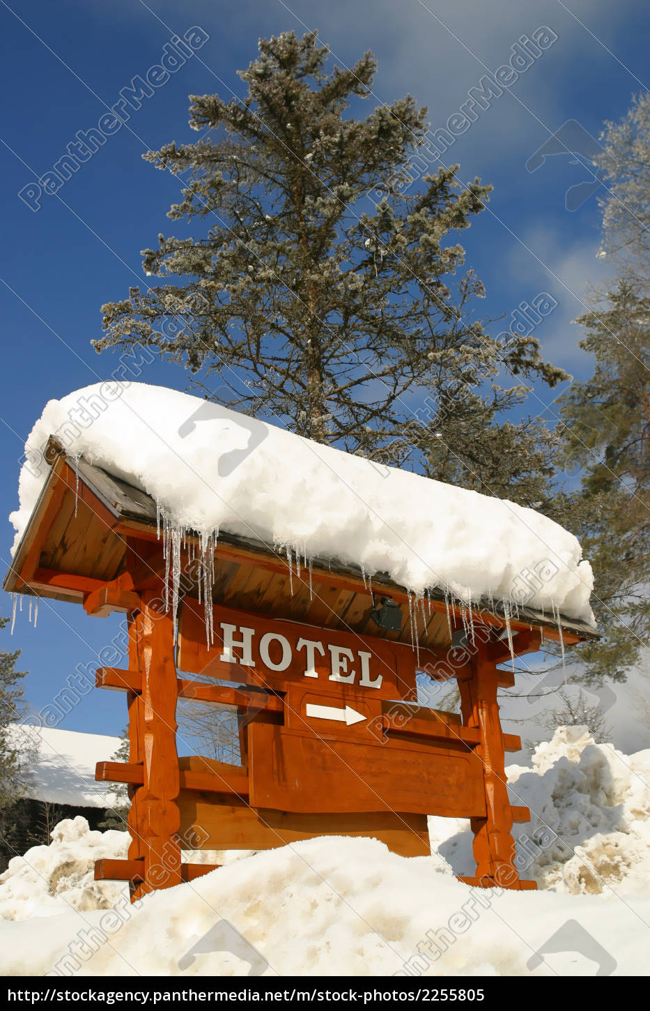 a, hotel, sign, , covered, in, ice - 2255805
