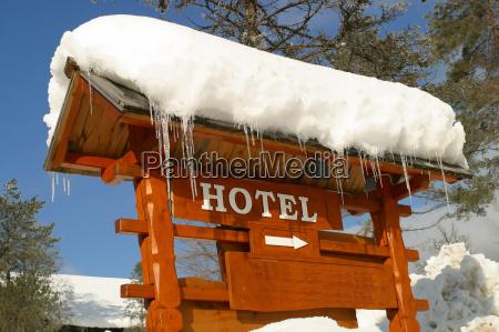 a, hotel, sign, , covered, in, ice - 2255807
