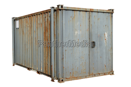 a freight container isolated on a