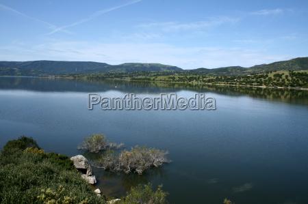 reservoir in sardinia
