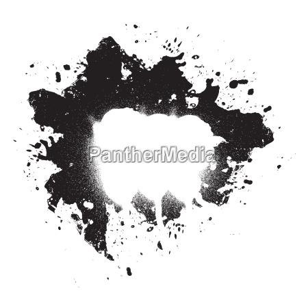 splattered paint grunge element