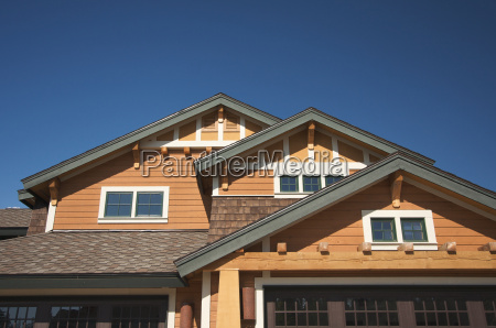 colorful new home construction abstract