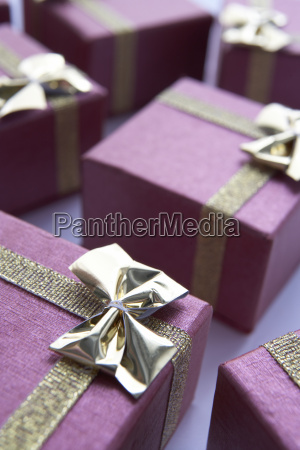 group of gift wrapped christmas presents